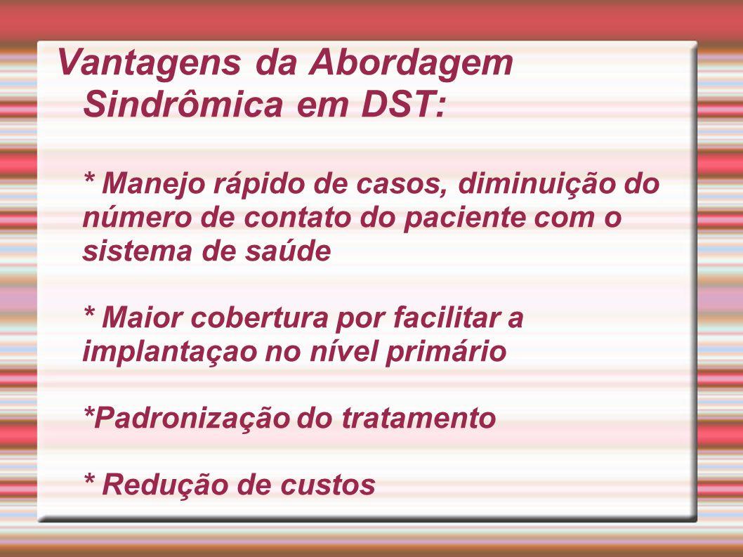 Vantagens da Abordagem Sindrômica em DST: