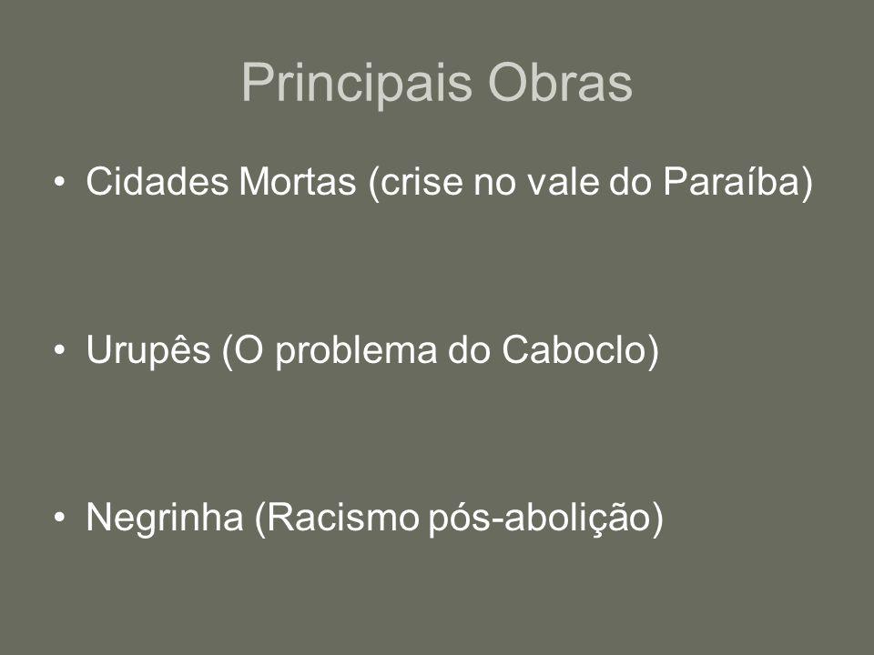 Principais Obras Cidades Mortas (crise no vale do Paraíba)