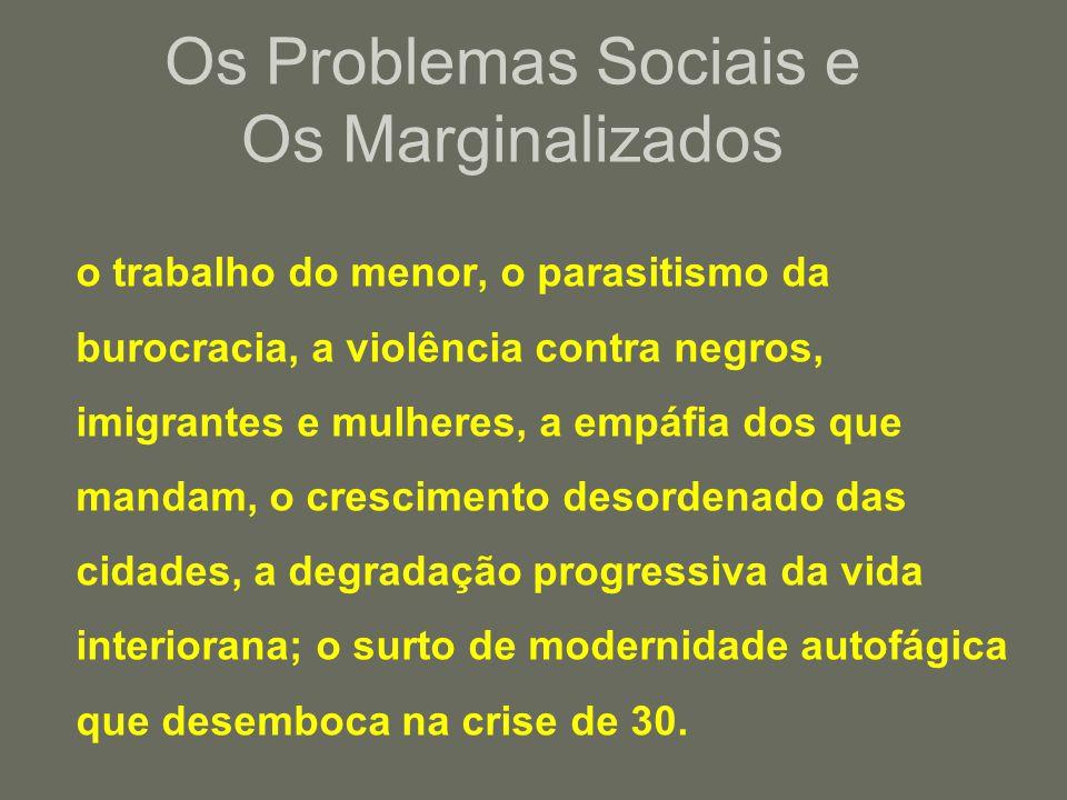Os Problemas Sociais e Os Marginalizados
