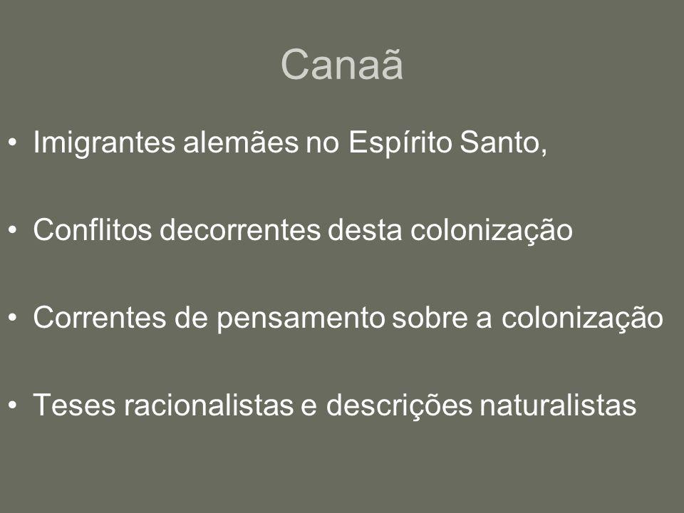 Canaã Imigrantes alemães no Espírito Santo,