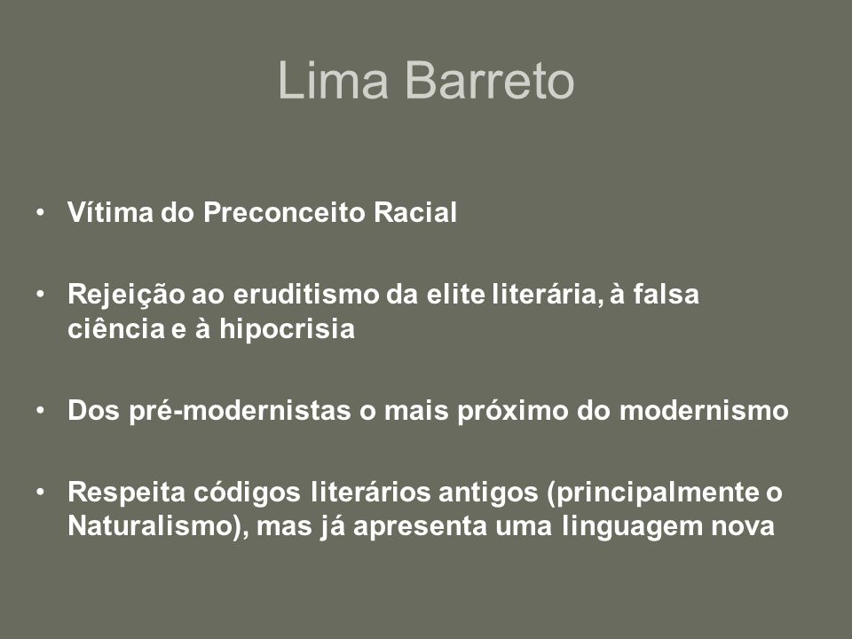 Lima Barreto Vítima do Preconceito Racial