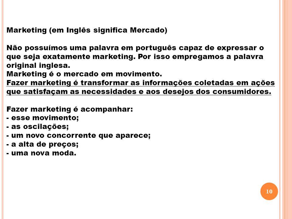 Marketing (em Inglês significa Mercado)