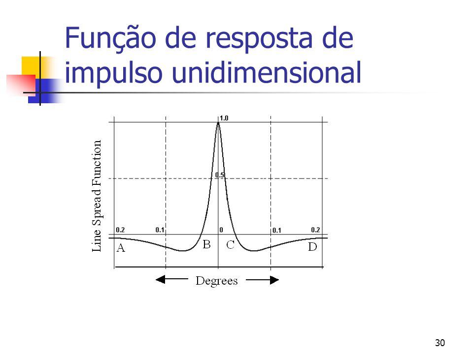 Função de resposta de impulso unidimensional