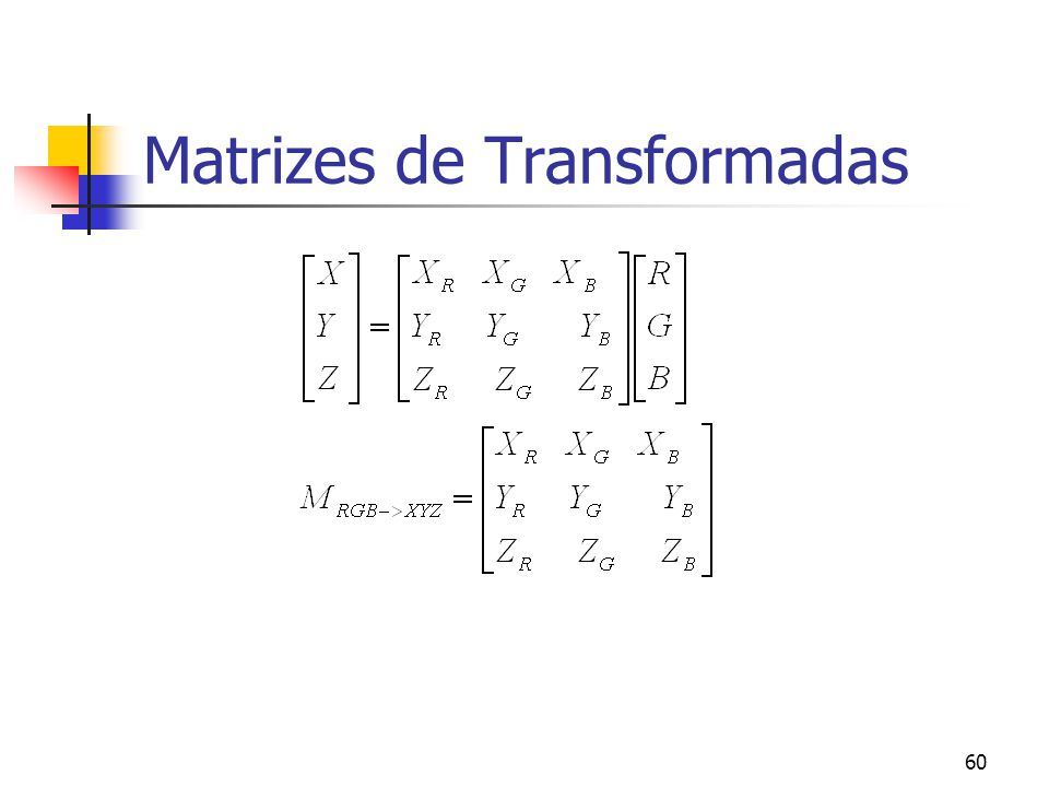 Matrizes de Transformadas