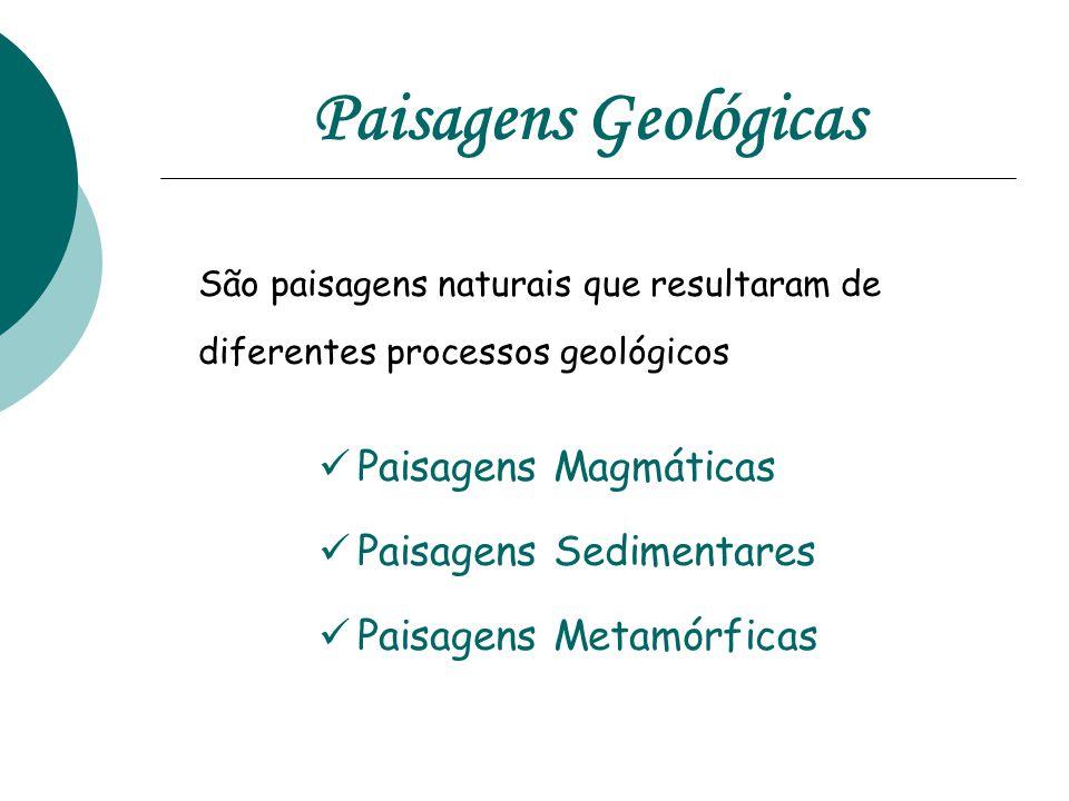 Paisagens Geológicas São paisagens naturais que resultaram de diferentes processos geológicos. Paisagens Magmáticas.