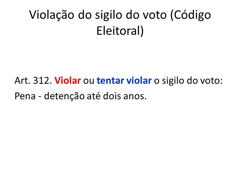 Violação do sigilo do voto (Código Eleitoral)