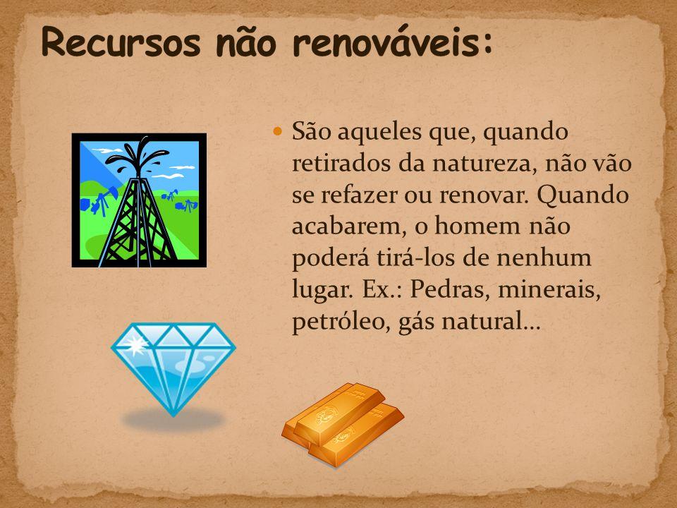 Recursos não renováveis:
