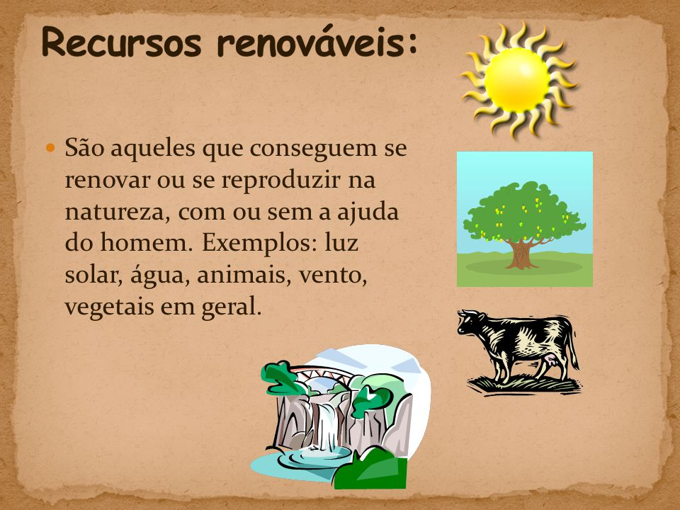 Recursos renováveis: