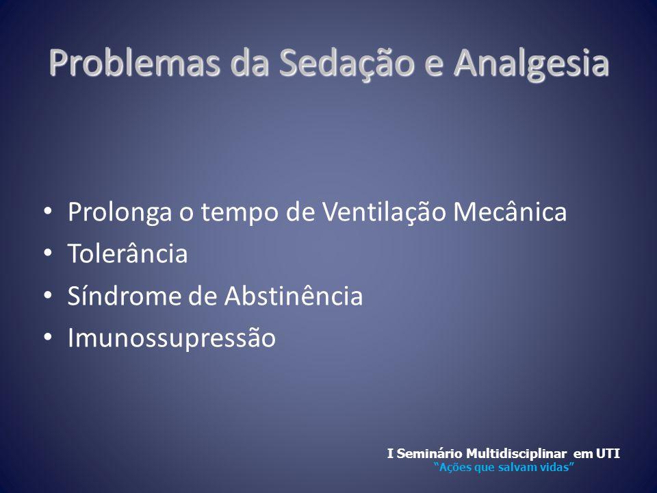 Problemas da Sedação e Analgesia