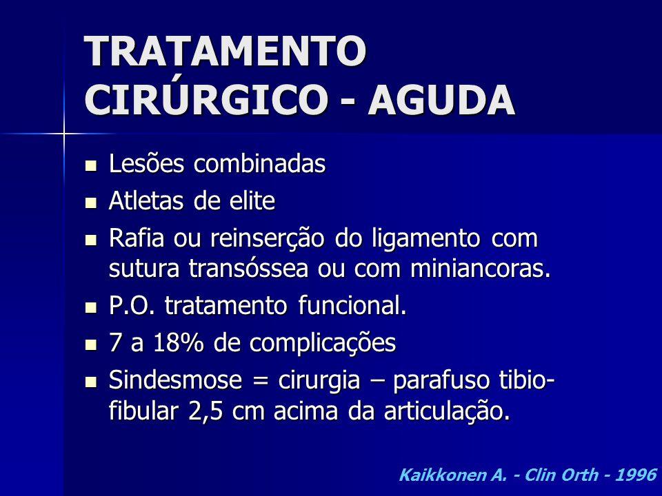 TRATAMENTO CIRÚRGICO - AGUDA