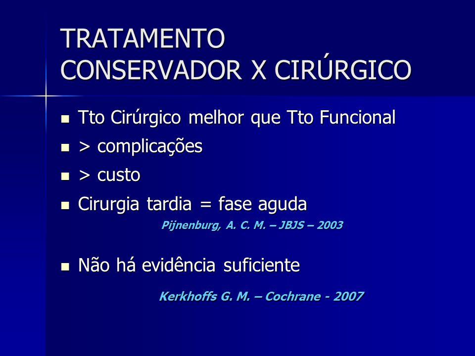 TRATAMENTO CONSERVADOR X CIRÚRGICO