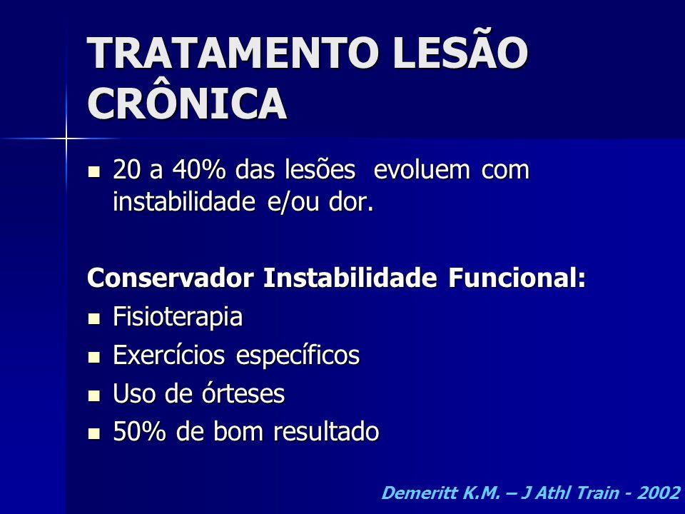 TRATAMENTO LESÃO CRÔNICA