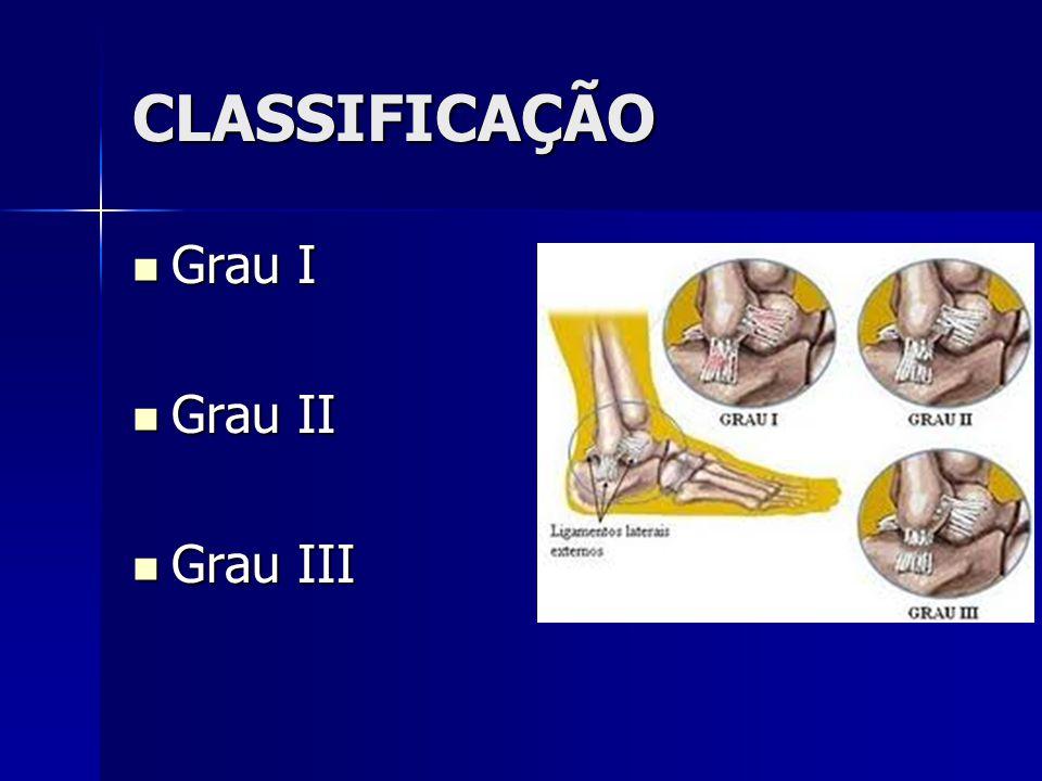 CLASSIFICAÇÃO Grau I Grau II Grau III