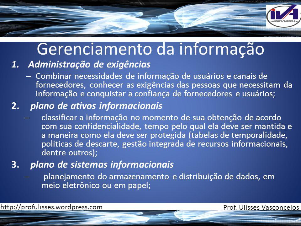 Gerenciamento da informação
