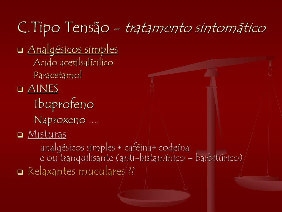 C.Tipo Tensão - tratamento sintomático