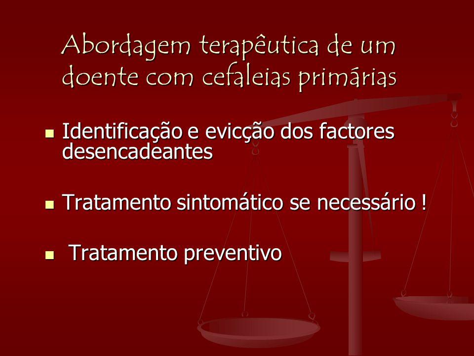 Abordagem terapêutica de um doente com cefaleias primárias
