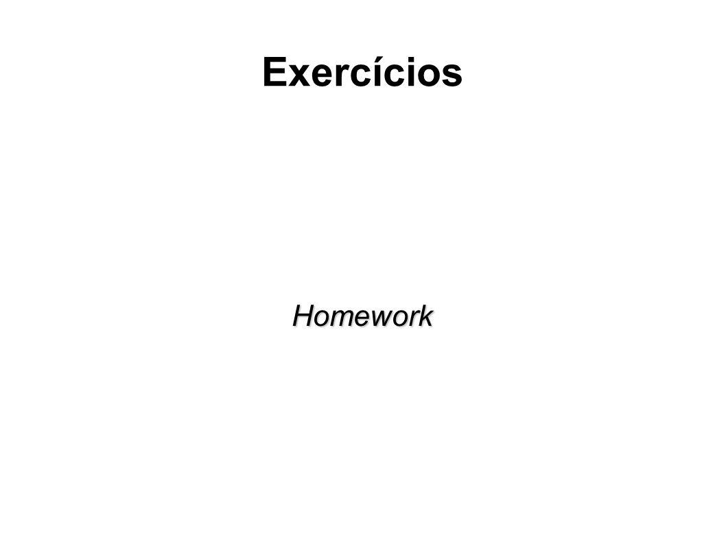 Exercícios Homework