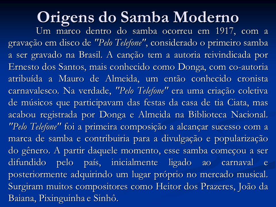 Origens do Samba Moderno