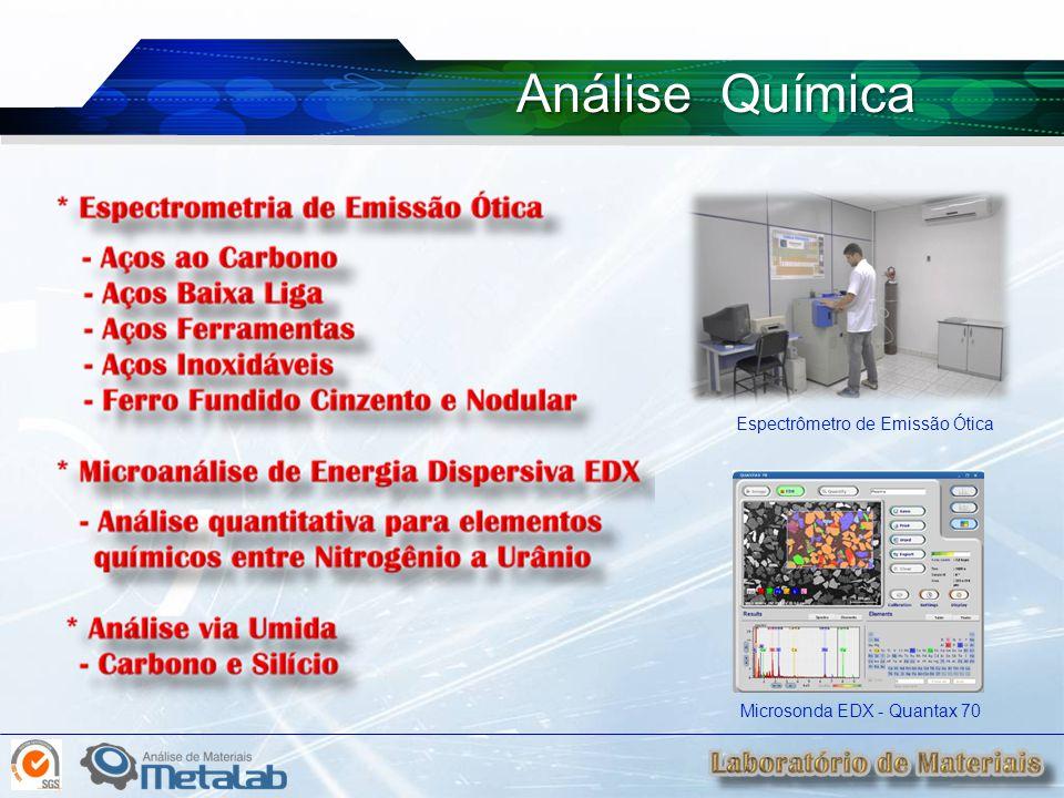 Análise Química Espectrômetro de Emissão Ótica