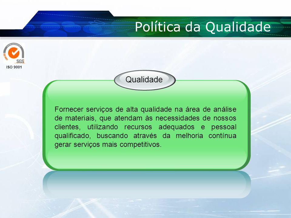 Política da Qualidade Qualidade