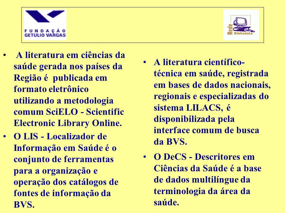 A literatura em ciências da saúde gerada nos países da Região é publicada em formato eletrônico utilizando a metodologia comum SciELO - Scientific Electronic Library Online.