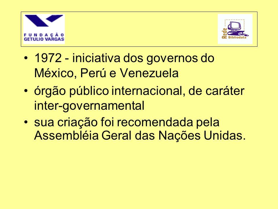 1972 - iniciativa dos governos do México, Perú e Venezuela