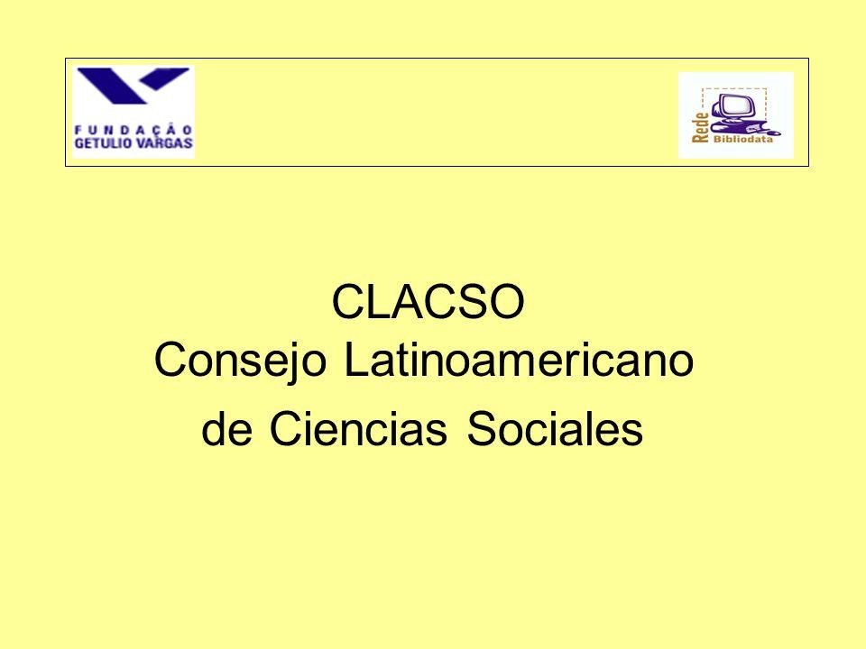 CLACSO Consejo Latinoamericano