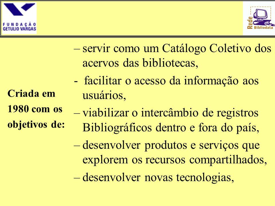 servir como um Catálogo Coletivo dos acervos das bibliotecas,