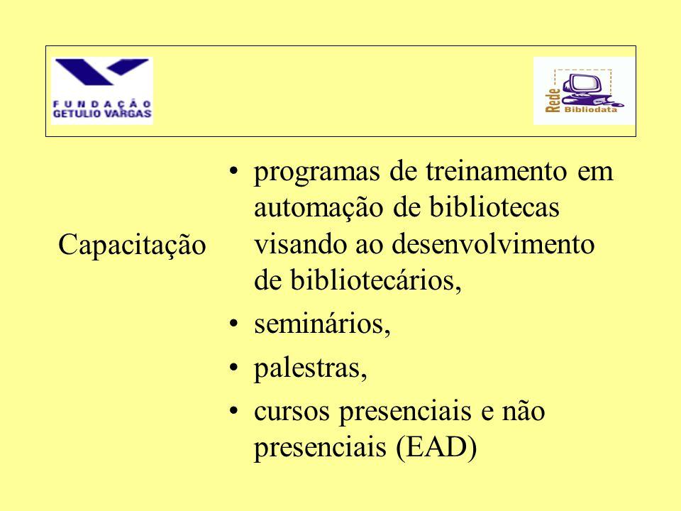 programas de treinamento em automação de bibliotecas visando ao desenvolvimento de bibliotecários,