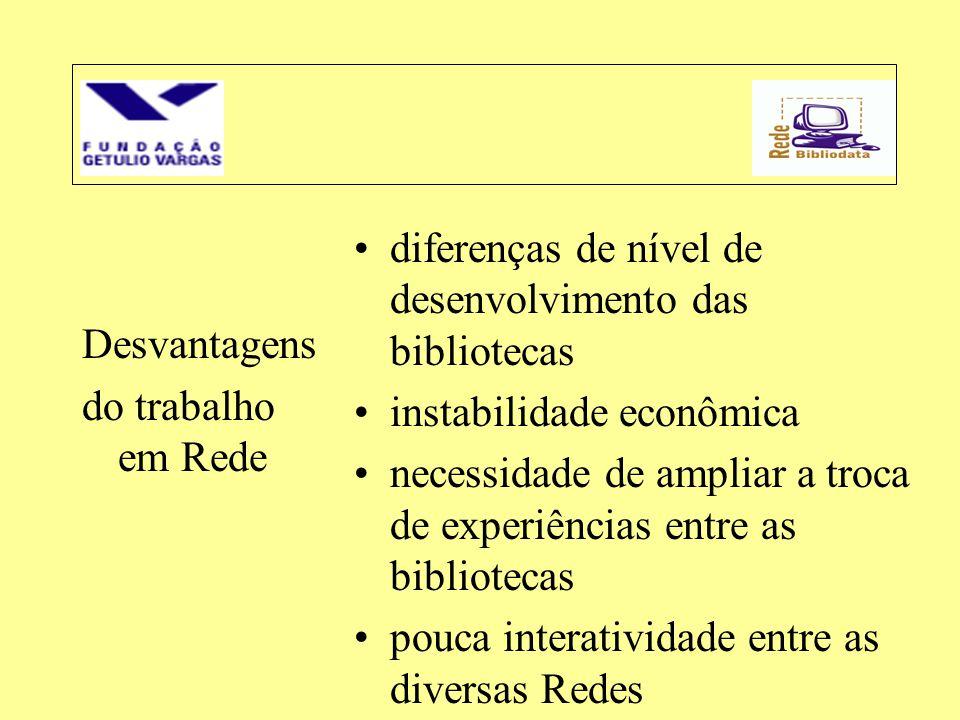 diferenças de nível de desenvolvimento das bibliotecas