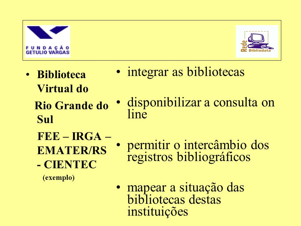 integrar as bibliotecas disponibilizar a consulta on line