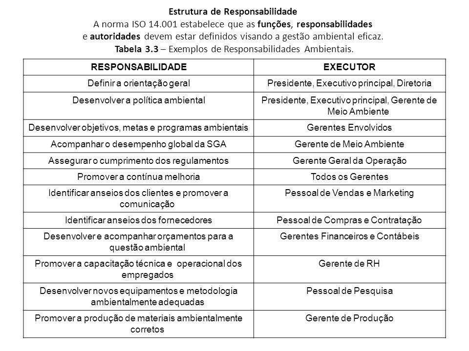 Estrutura de Responsabilidade