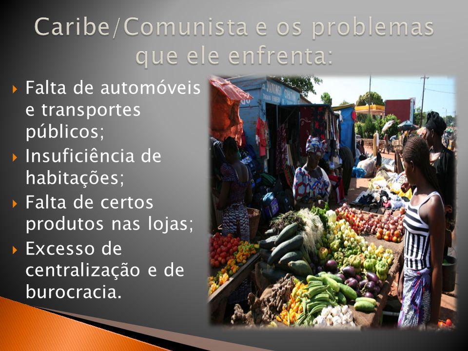 Caribe/Comunista e os problemas que ele enfrenta:
