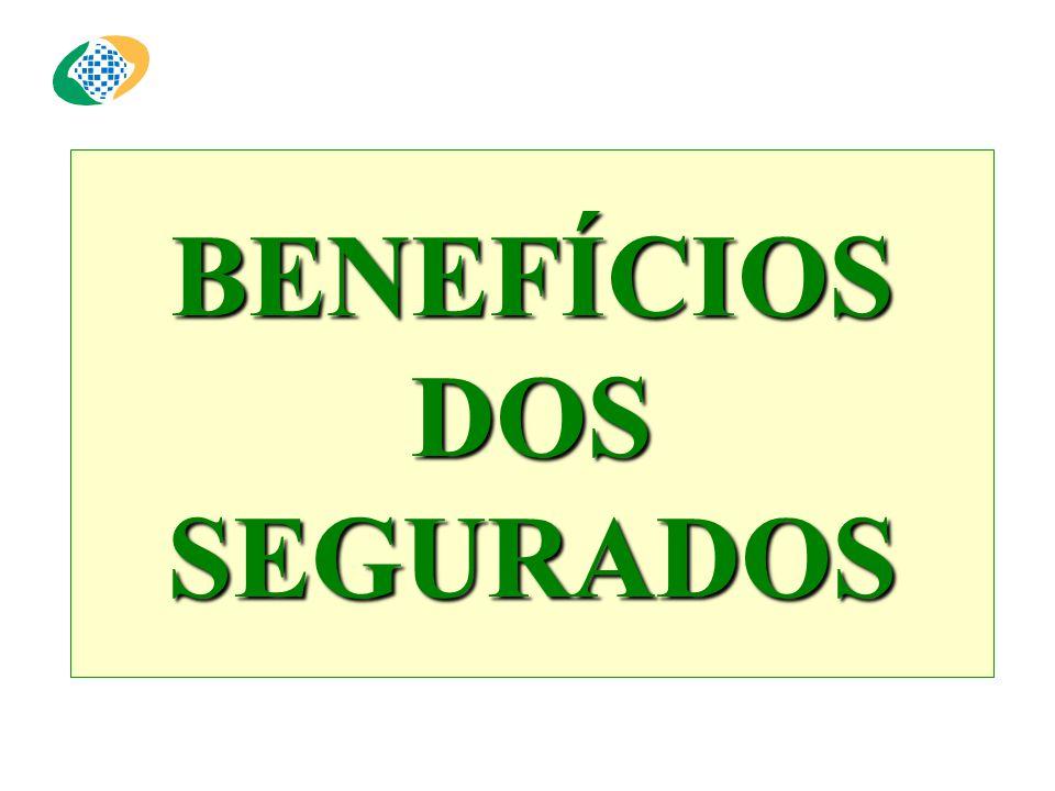BENEFÍCIOS DOS SEGURADOS
