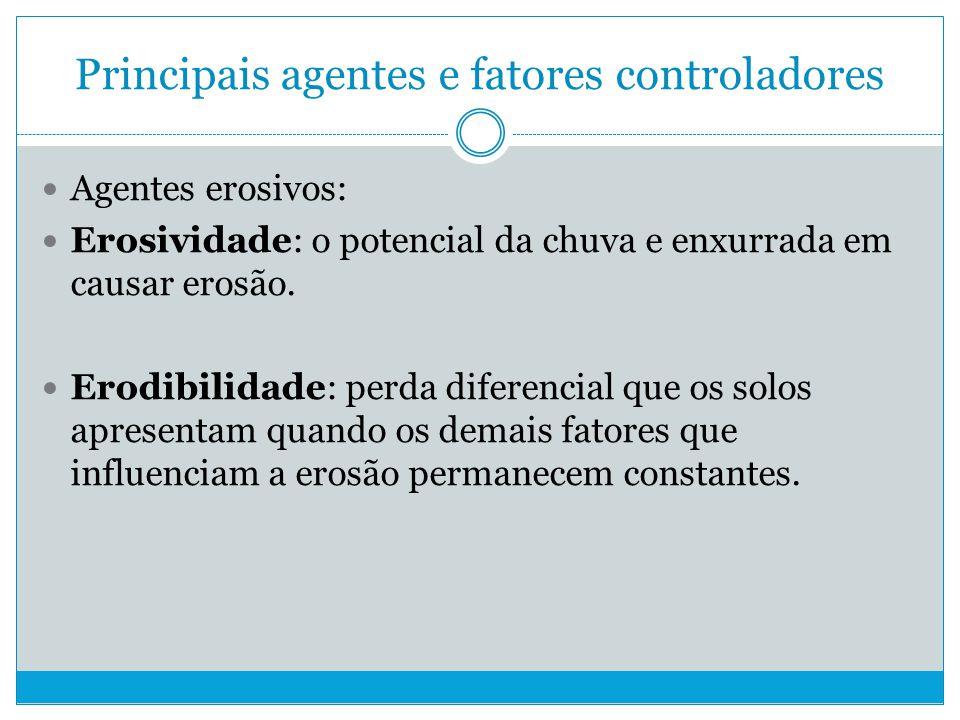 Principais agentes e fatores controladores