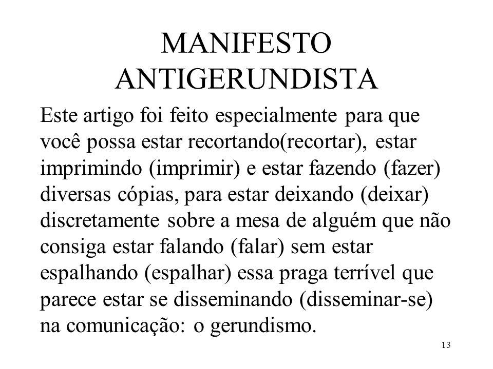 MANIFESTO ANTIGERUNDISTA