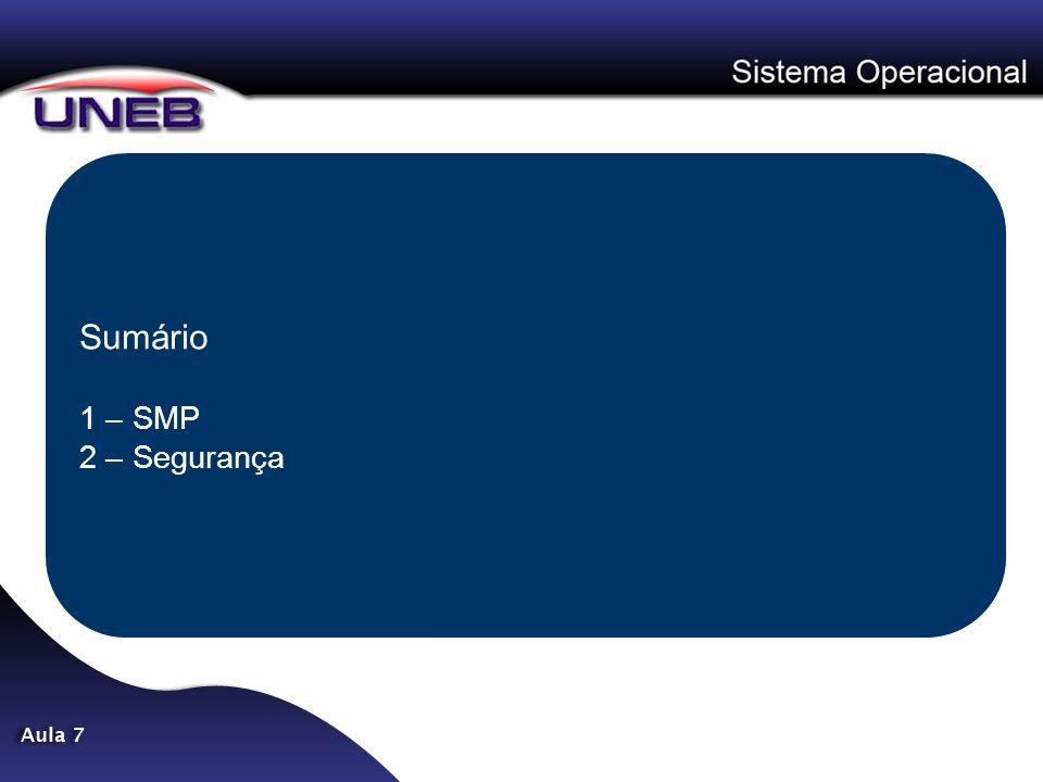 Sumário 1 – SMP 2 – Segurança
