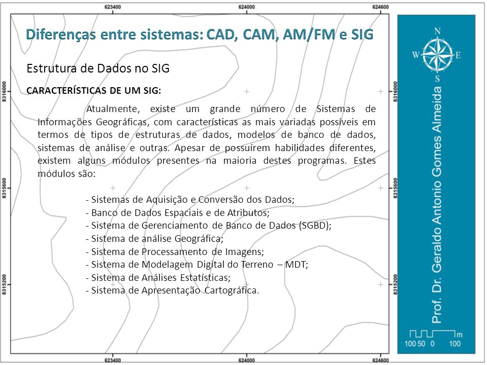Diferenças entre sistemas: CAD, CAM, AM/FM e SIG