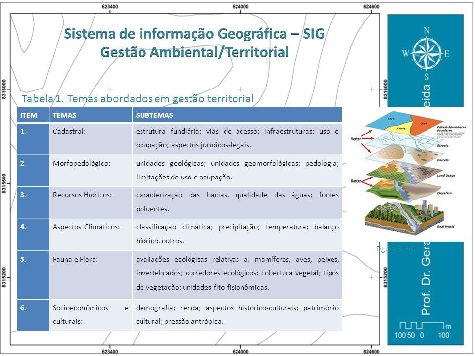 Sistema de informação Geográfica – SIG Gestão Ambiental/Territorial