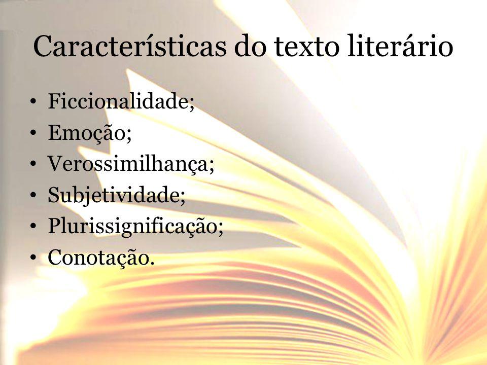 Características do texto literário