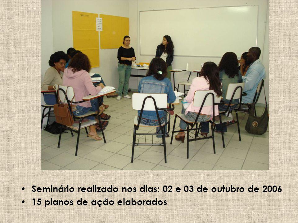 Seminário realizado nos dias: 02 e 03 de outubro de 2006