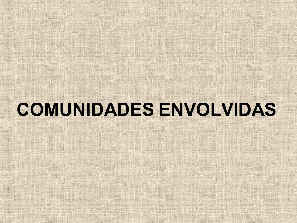 COMUNIDADES ENVOLVIDAS