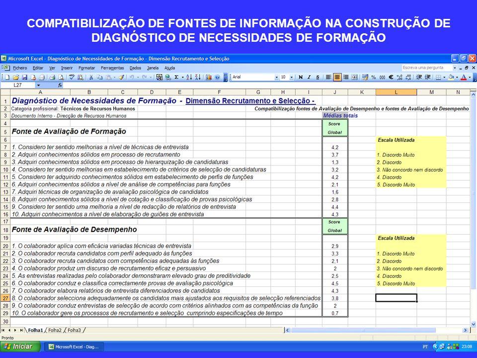 COMPATIBILIZAÇÃO DE FONTES DE INFORMAÇÃO NA CONSTRUÇÃO DE DIAGNÓSTICO DE NECESSIDADES DE FORMAÇÃO