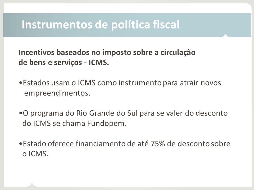 Instrumentos de política fiscal