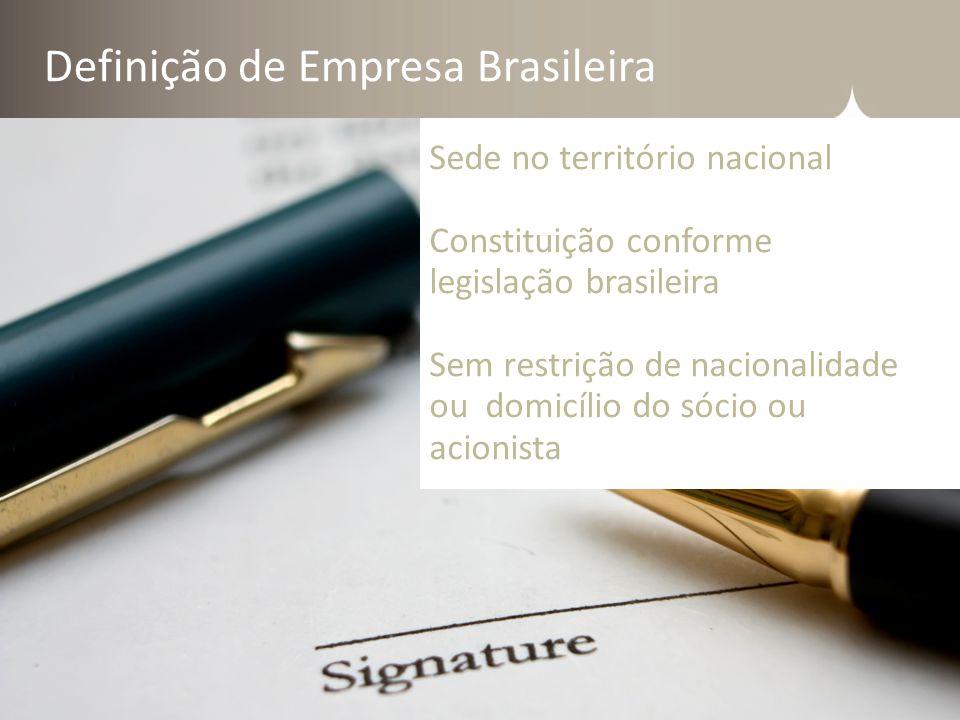 Definição de Empresa Brasileira