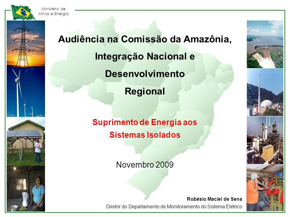 Audiência na Comissão da Amazônia, Suprimento de Energia aos