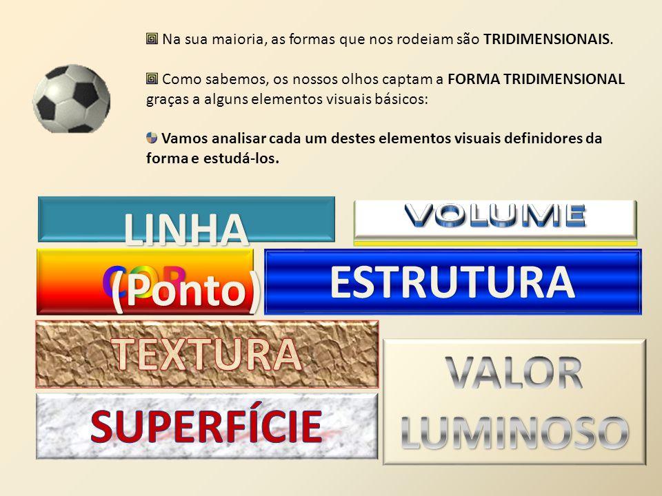 VOLUME LINHA (Ponto) COR ESTRUTURA TEXTURA VALOR LUMINOSO SUPERFÍCIE