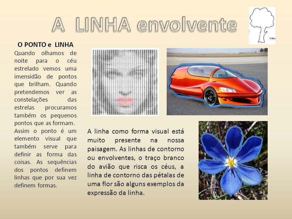 A LINHA envolvente O PONTO e LINHA