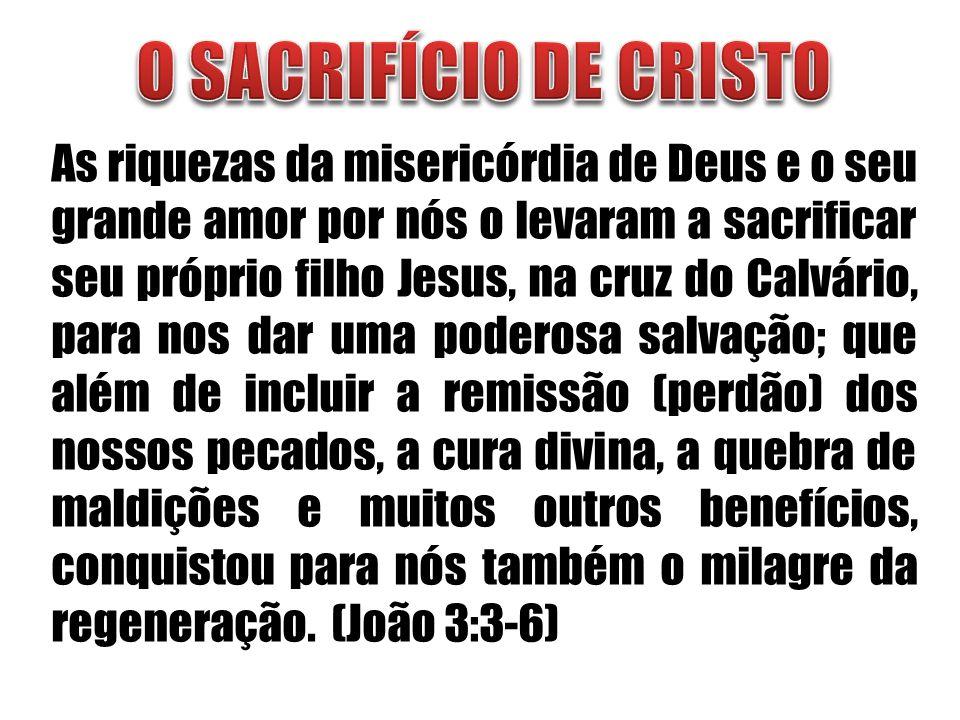 O SACRIFÍCIO DE CRISTO