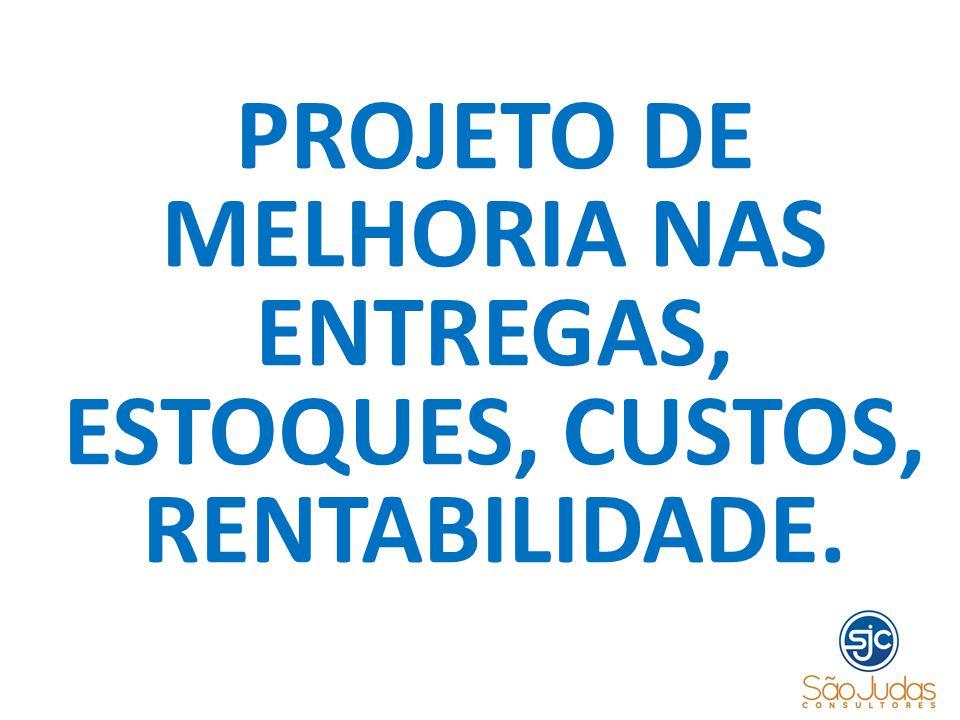 PROJETO DE MELHORIA NAS ENTREGAS, ESTOQUES, CUSTOS, RENTABILIDADE.